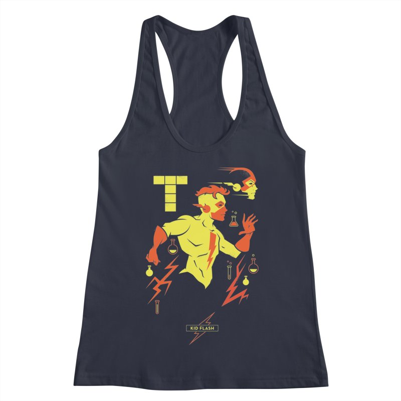 Kid Flash - DC Superhero Profiles Women's Racerback Tank by daab Creative's Artist Shop