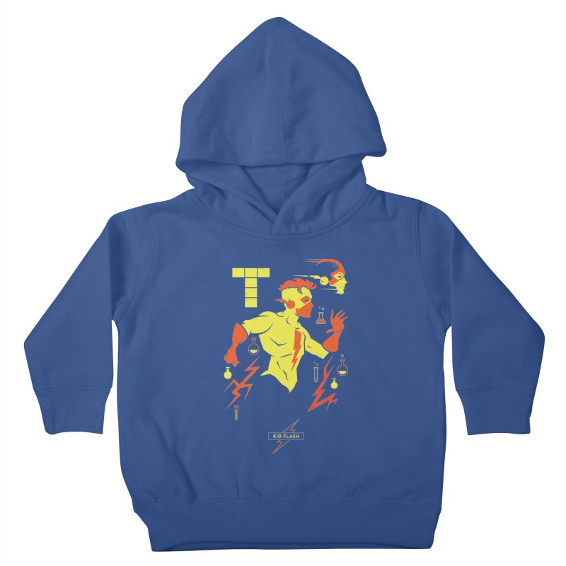 Kid Flash - DC Superhero Profiles Kids Toddler Pullover Hoody by daab Creative's Artist Shop