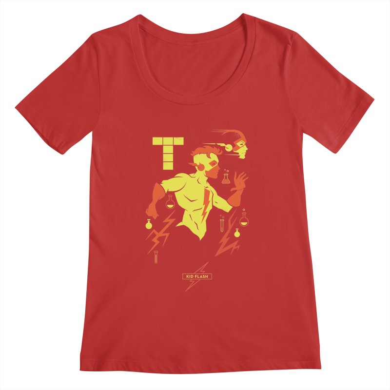 Kid Flash - DC Superhero Profiles Women's Regular Scoop Neck by daab Creative's Artist Shop