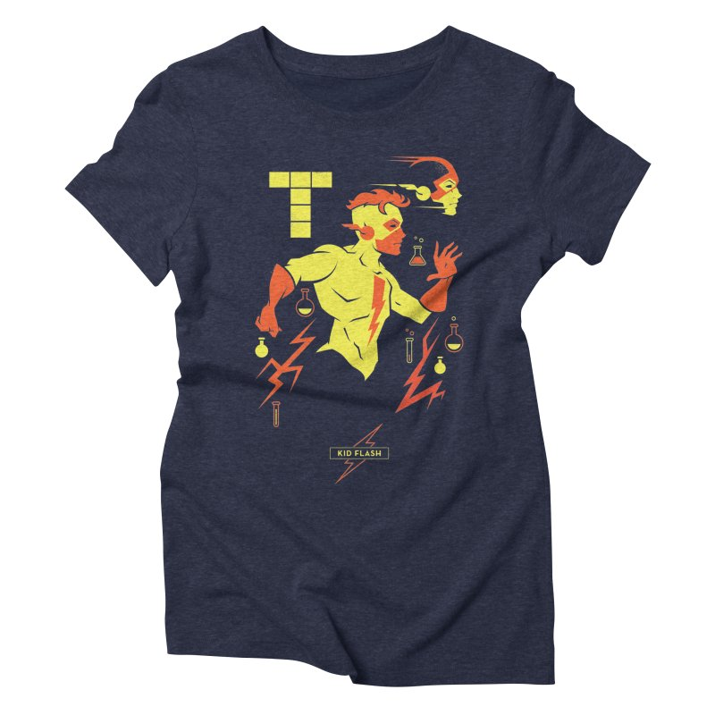 Kid Flash - DC Superhero Profiles Women's T-Shirt by daab Creative's Artist Shop