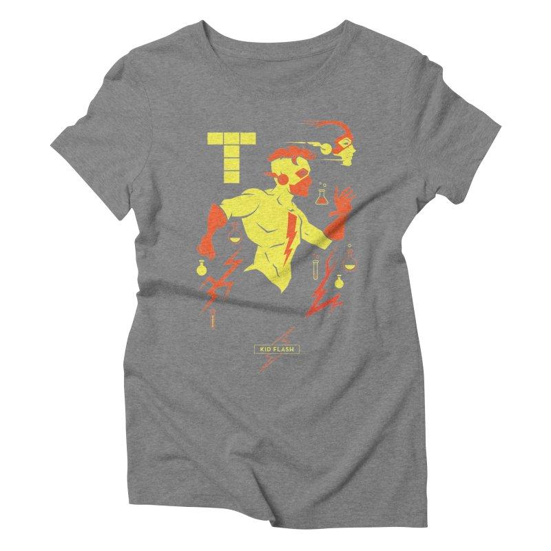Kid Flash - DC Superhero Profiles Women's Triblend T-Shirt by daab Creative's Artist Shop
