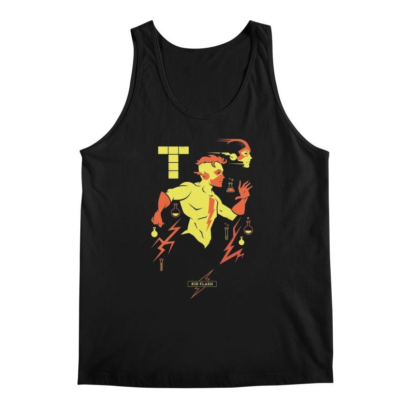 Kid Flash - DC Superhero Profiles Men's Regular Tank by daab Creative's Artist Shop