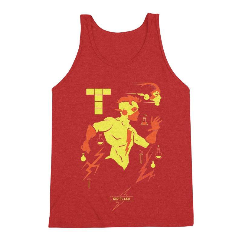 Kid Flash - DC Superhero Profiles Men's Triblend Tank by daab Creative's Artist Shop