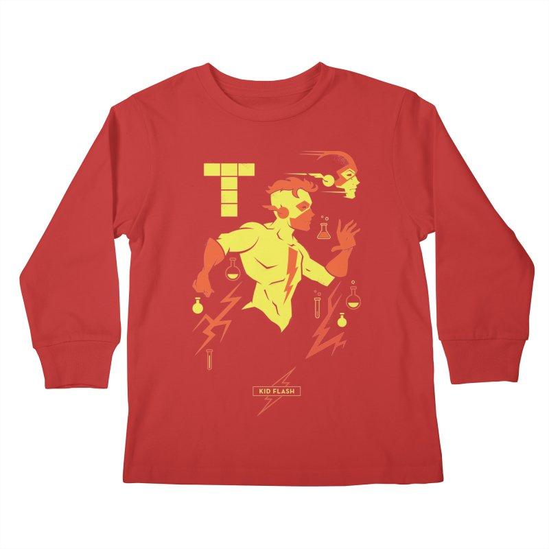 Kid Flash - DC Superhero Profiles Kids Longsleeve T-Shirt by daab Creative's Artist Shop