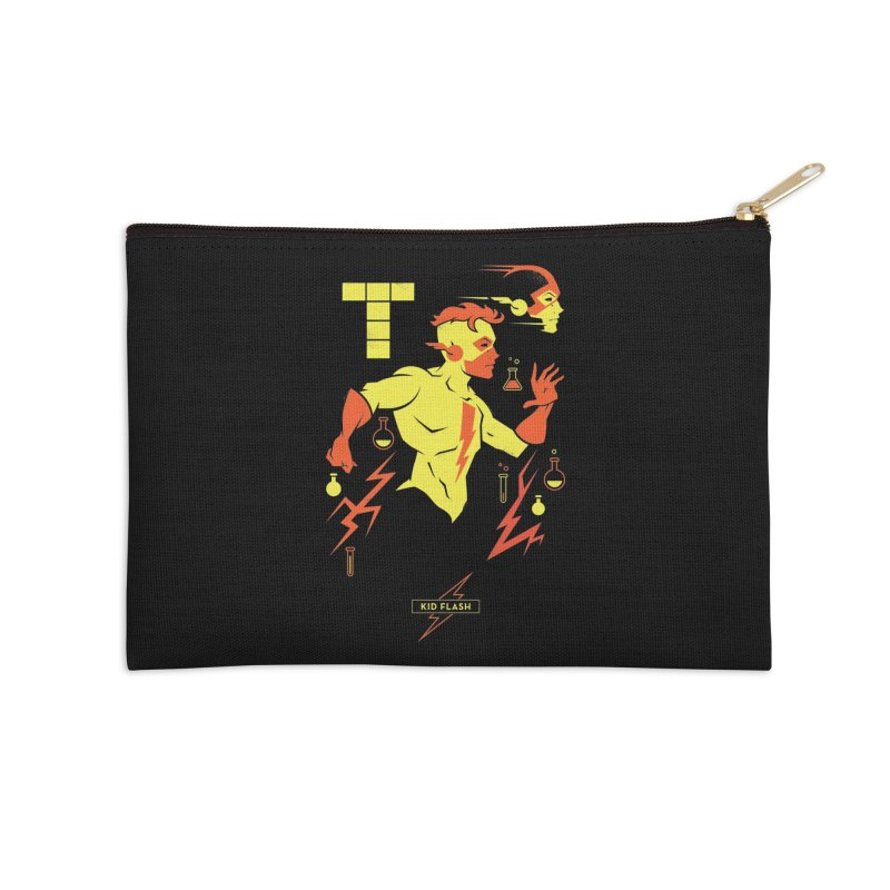 Kid Flash - DC Superhero Profiles Accessories Zip Pouch by daab Creative's Artist Shop