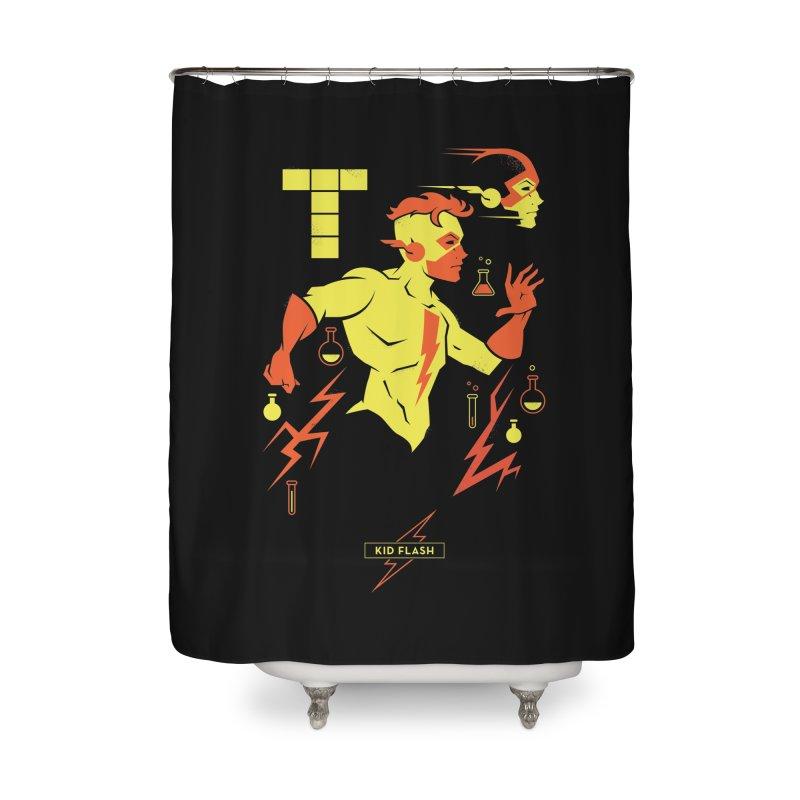 Kid Flash - DC Superhero Profiles Home Shower Curtain by daab Creative's Artist Shop