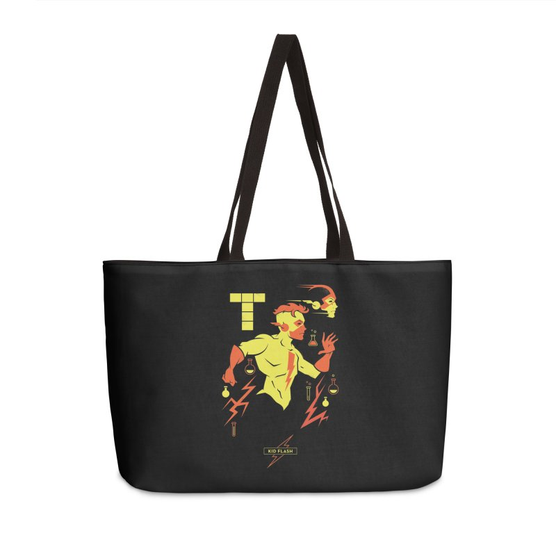 Kid Flash - DC Superhero Profiles Accessories Weekender Bag Bag by daab Creative's Artist Shop