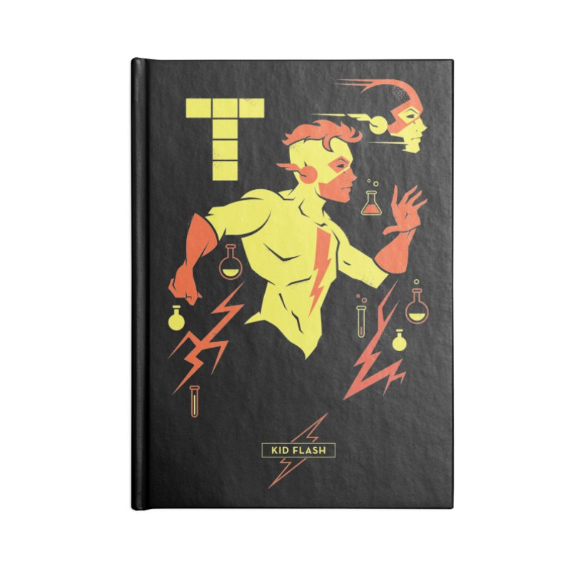 Kid Flash - DC Superhero Profiles Accessories Lined Journal Notebook by daab Creative's Artist Shop