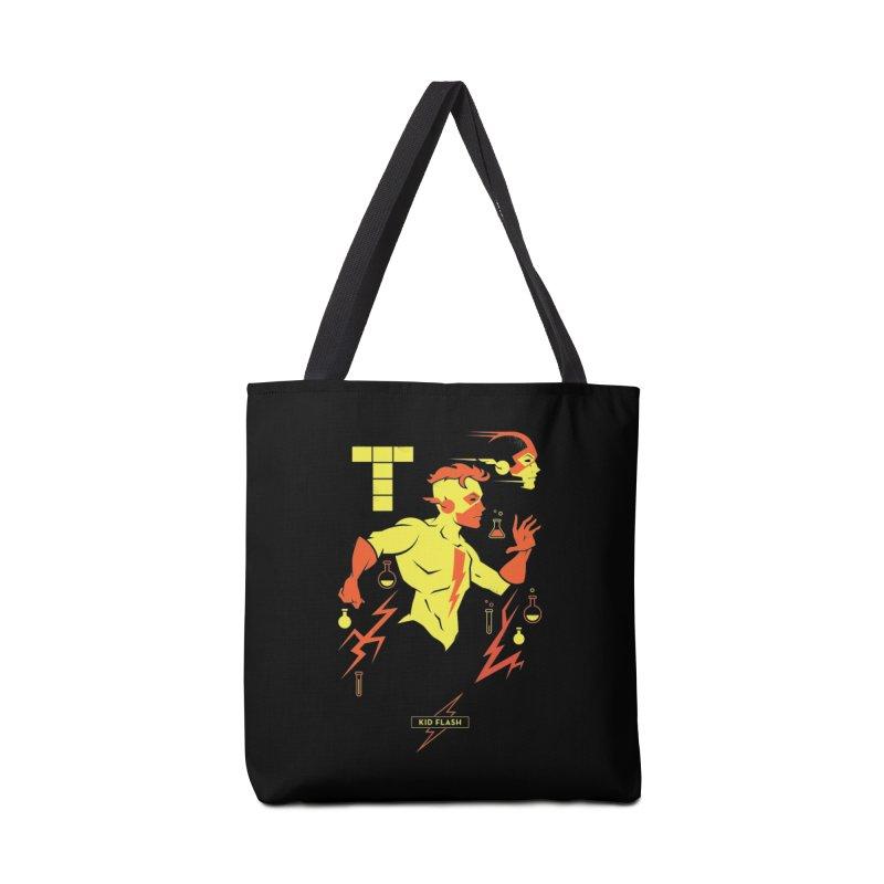 Kid Flash - DC Superhero Profiles Accessories Tote Bag Bag by daab Creative's Artist Shop