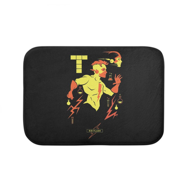 Kid Flash - DC Superhero Profiles Home Bath Mat by daab Creative's Artist Shop