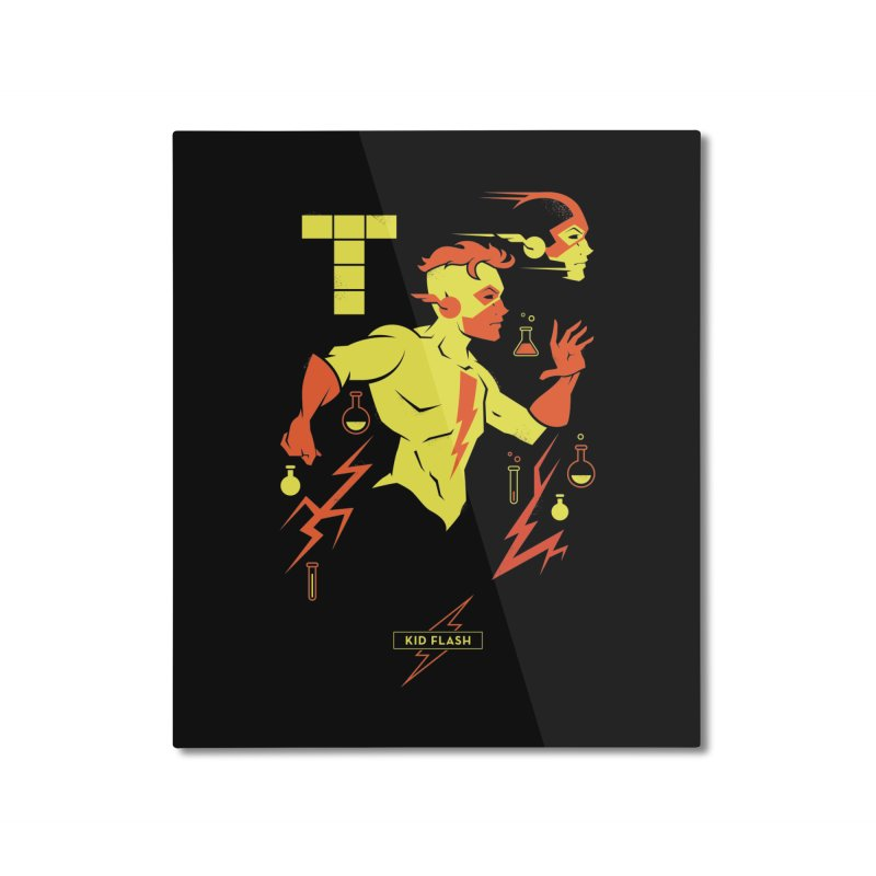 Kid Flash - DC Superhero Profiles Home Mounted Aluminum Print by daab Creative's Artist Shop