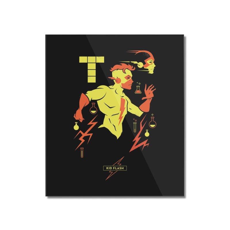 Kid Flash - DC Superhero Profiles Home Mounted Acrylic Print by daab Creative's Artist Shop
