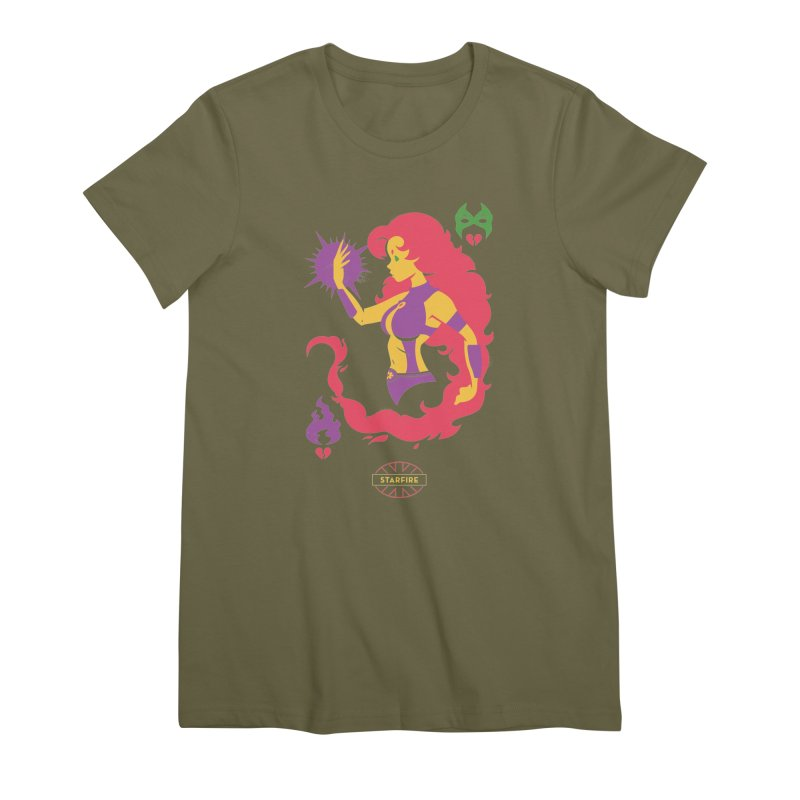 Starfire - DC Superhero Profiles Women's Premium T-Shirt by daab Creative's Artist Shop