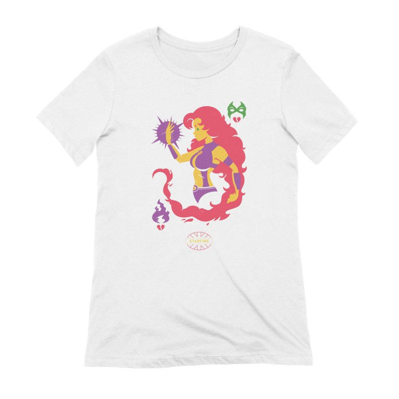 Starfire - DC Superhero Profiles Women's Extra Soft T-Shirt by daab Creative's Artist Shop