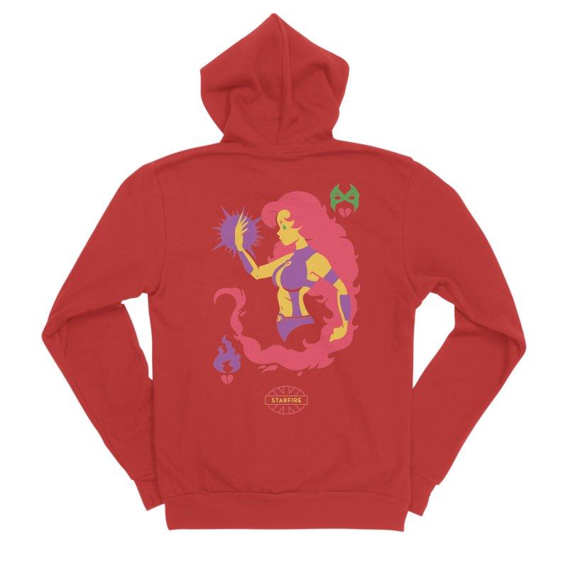 Starfire - DC Superhero Profiles Women's Sponge Fleece Zip-Up Hoody by daab Creative's Artist Shop