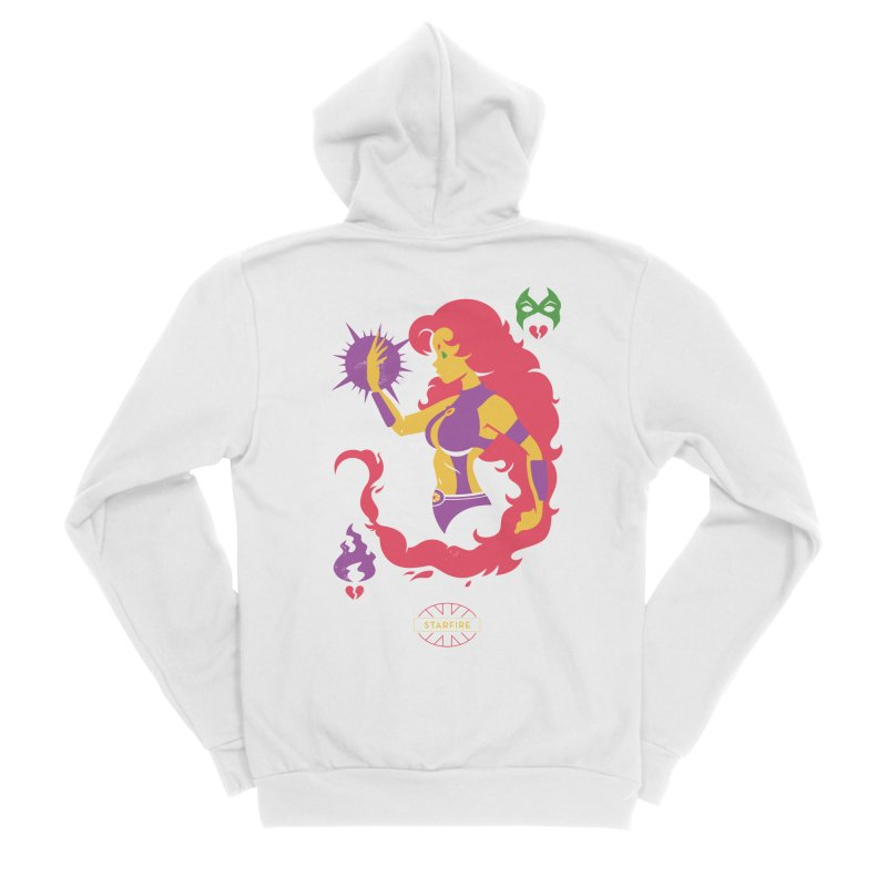 Starfire - DC Superhero Profiles Women's Sponge Fleece Zip-Up Hoody by daab Creative's Artist Shop