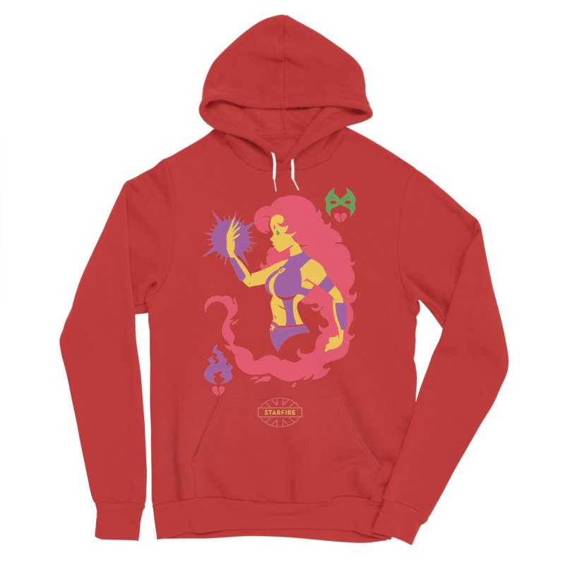 Starfire - DC Superhero Profiles Men's Sponge Fleece Pullover Hoody by daab Creative's Artist Shop