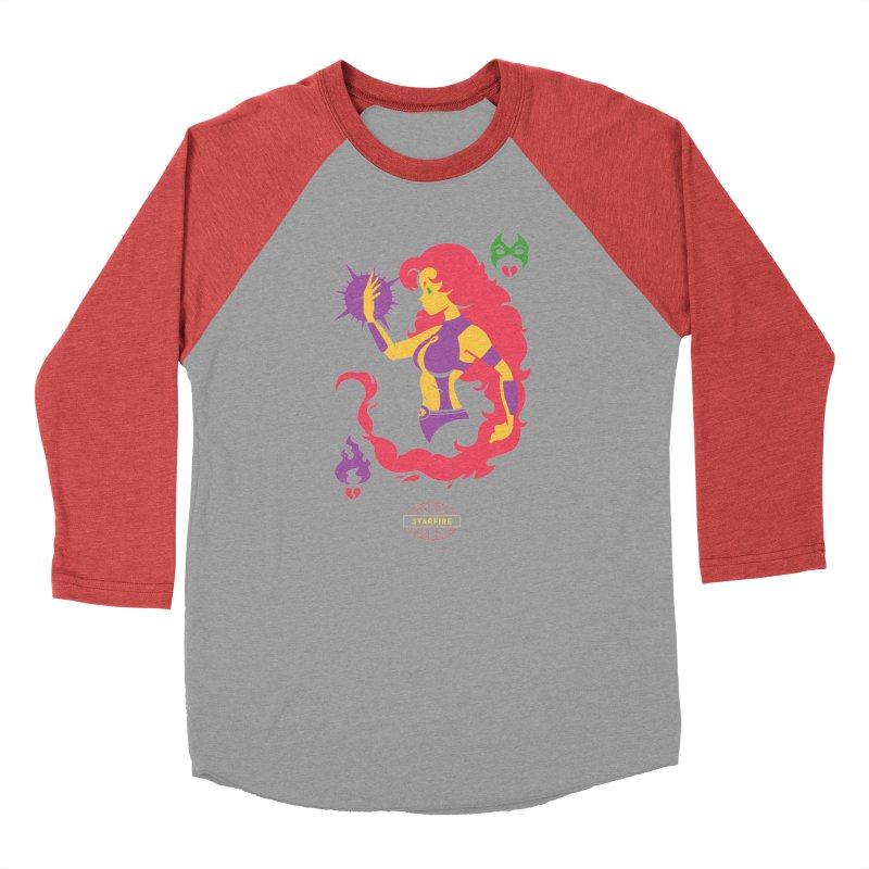 Starfire - DC Superhero Profiles Men's Longsleeve T-Shirt by daab Creative's Artist Shop