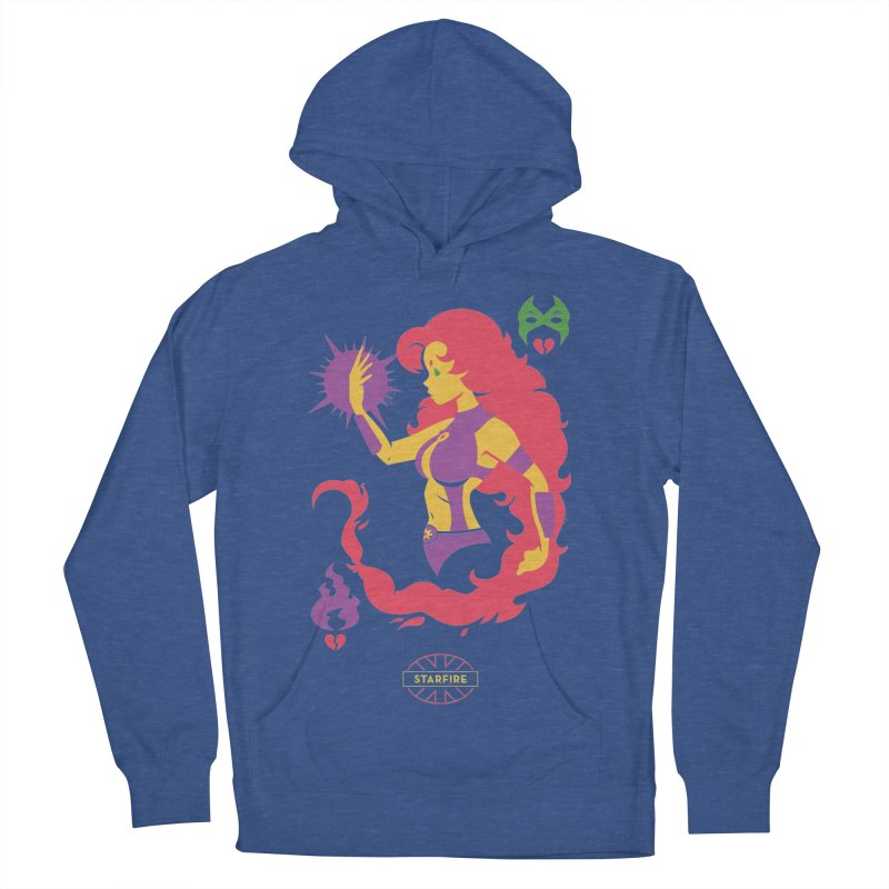 Starfire - DC Superhero Profiles Women's French Terry Pullover Hoody by daab Creative's Artist Shop