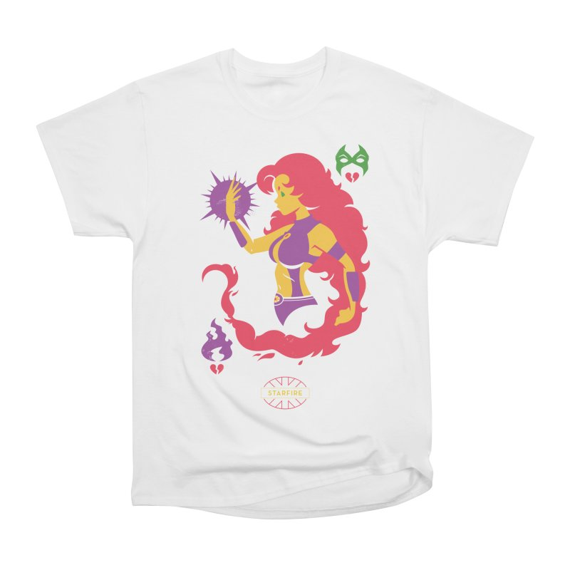 Starfire - DC Superhero Profiles Men's Heavyweight T-Shirt by daab Creative's Artist Shop