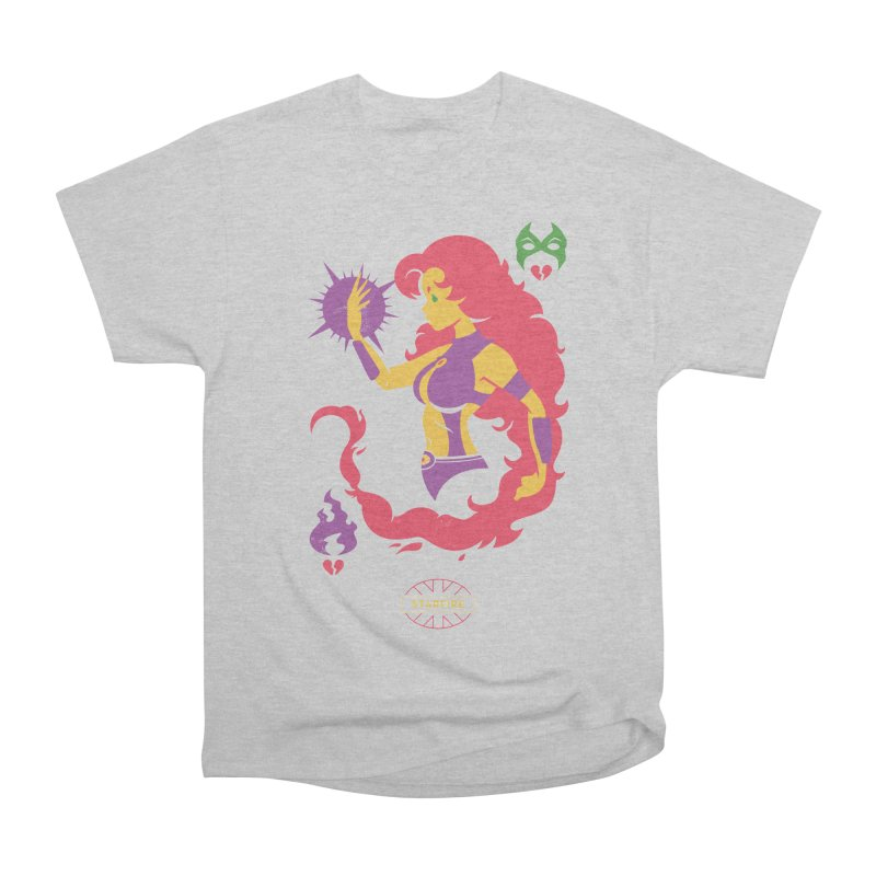 Starfire - DC Superhero Profiles Men's Heavyweight T-Shirt by daab Creative's Artist Shop