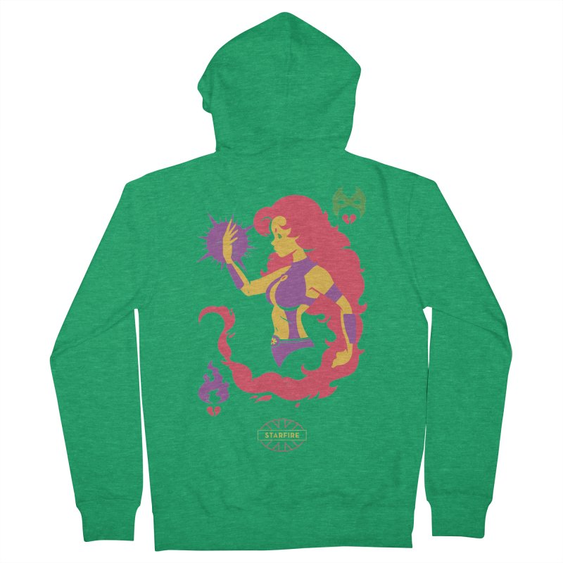 Starfire - DC Superhero Profiles Women's French Terry Zip-Up Hoody by daab Creative's Artist Shop