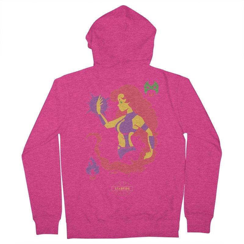 Starfire - DC Superhero Profiles Women's French Terry Zip-Up Hoody by daab Creative's Artist Shop