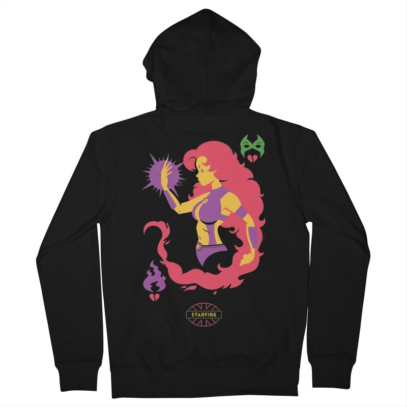 Starfire - DC Superhero Profiles Men's French Terry Zip-Up Hoody by daab Creative's Artist Shop