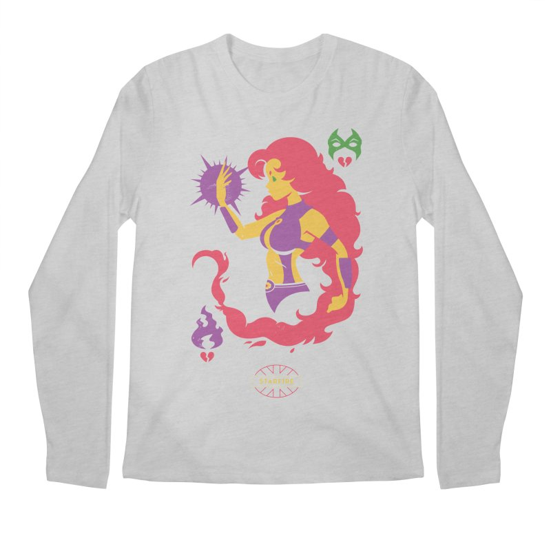 Starfire - DC Superhero Profiles Men's Regular Longsleeve T-Shirt by daab Creative's Artist Shop