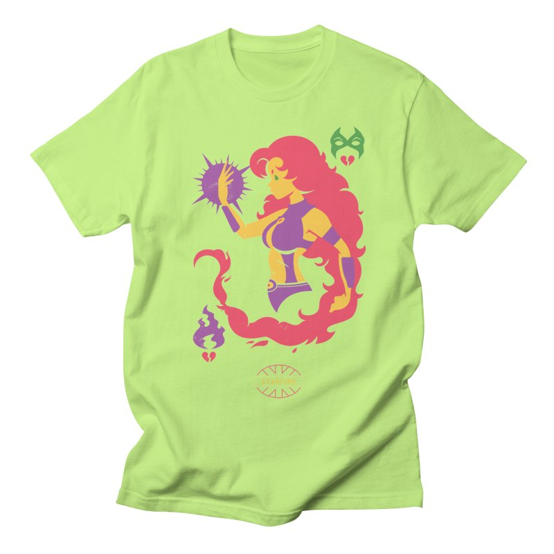 Starfire - DC Superhero Profiles Men's Regular T-Shirt by daab Creative's Artist Shop