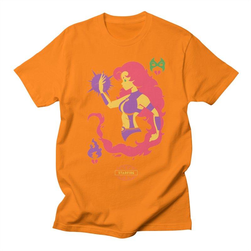 Starfire - DC Superhero Profiles Men's Regular T-Shirt by daab Creative's Artist Shop