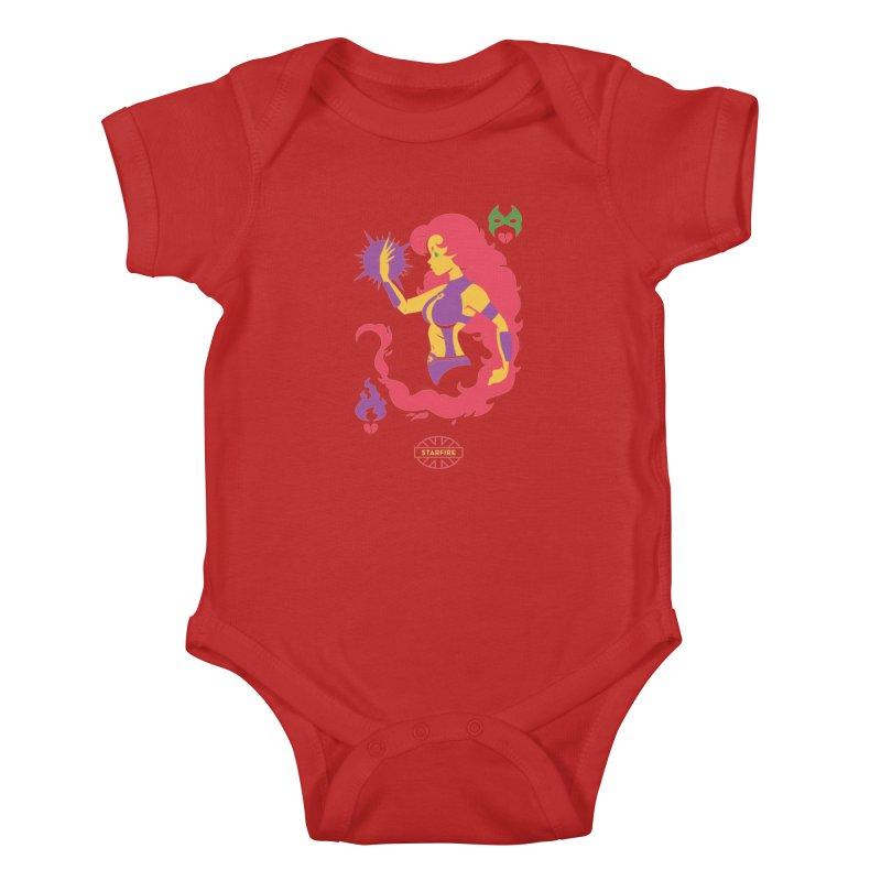 Starfire - DC Superhero Profiles Kids Baby Bodysuit by daab Creative's Artist Shop