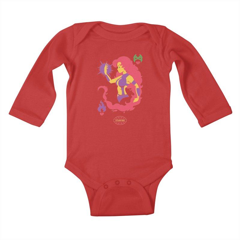 Starfire - DC Superhero Profiles Kids Baby Longsleeve Bodysuit by daab Creative's Artist Shop