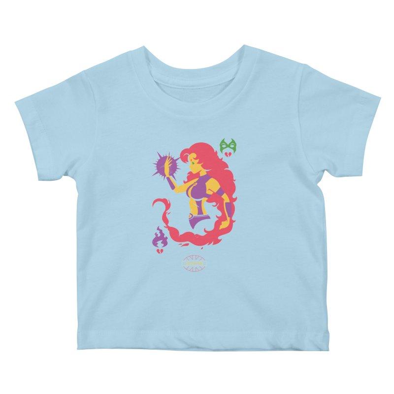 Starfire - DC Superhero Profiles Kids Baby T-Shirt by daab Creative's Artist Shop