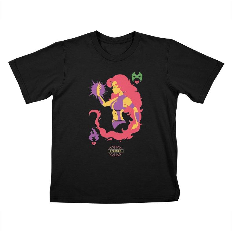 Starfire - DC Superhero Profiles Kids T-Shirt by daab Creative's Artist Shop