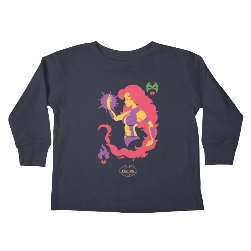 Starfire - DC Superhero Profiles Kids Toddler Longsleeve T-Shirt by daab Creative's Artist Shop