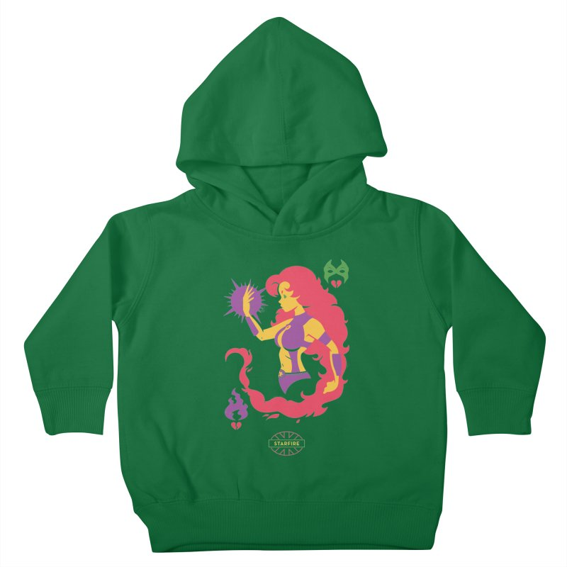 Starfire - DC Superhero Profiles Kids Toddler Pullover Hoody by daab Creative's Artist Shop