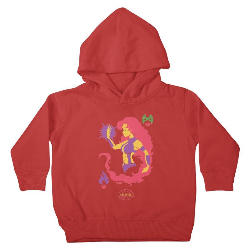 Starfire - DC Superhero Profiles Kids Toddler Pullover Hoody by daab Creative's Artist Shop