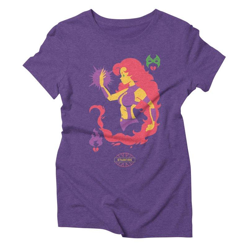 Starfire - DC Superhero Profiles Women's Triblend T-Shirt by daab Creative's Artist Shop