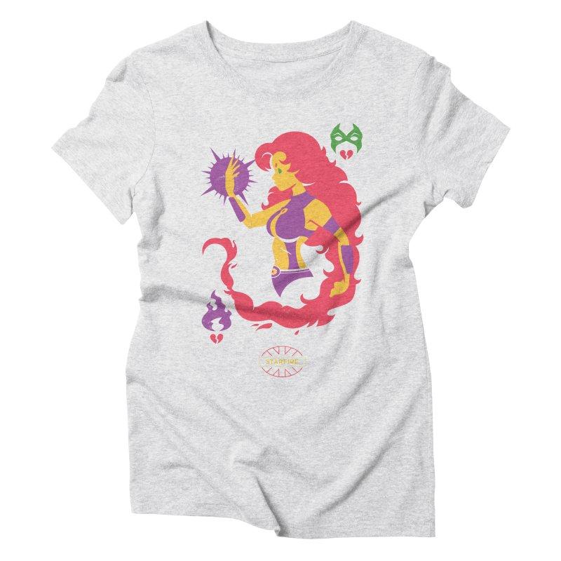 Starfire - DC Superhero Profiles Women's T-Shirt by daab Creative's Artist Shop