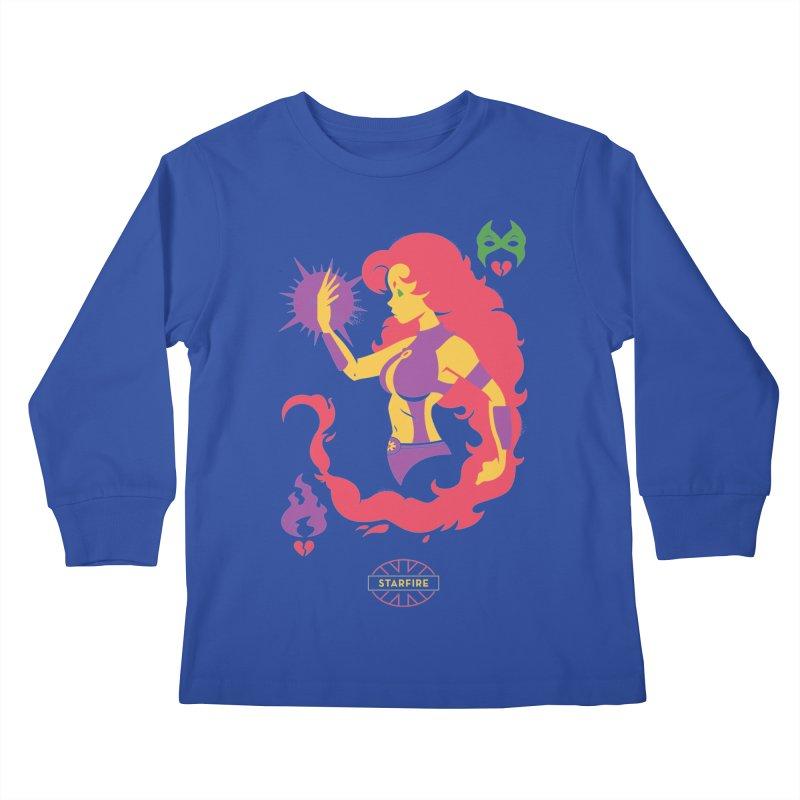 Starfire - DC Superhero Profiles Kids Longsleeve T-Shirt by daab Creative's Artist Shop