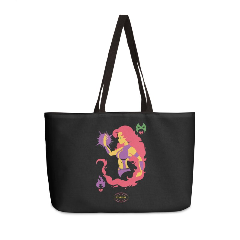 Starfire - DC Superhero Profiles Accessories Weekender Bag Bag by daab Creative's Artist Shop