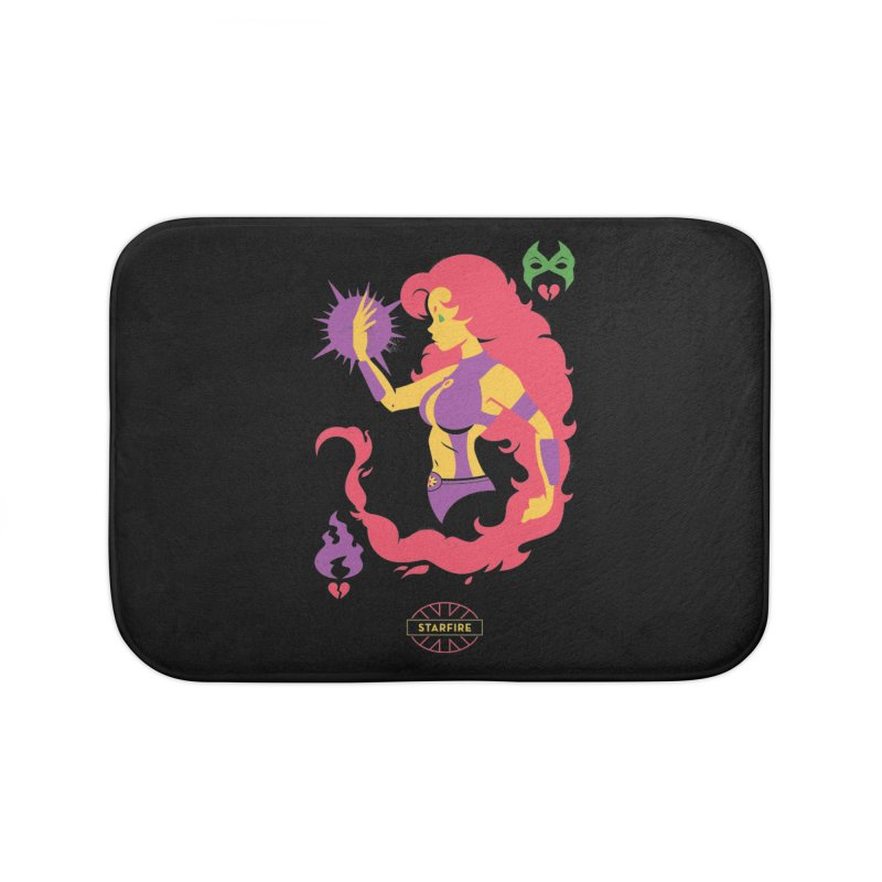 Starfire - DC Superhero Profiles Home Bath Mat by daab Creative's Artist Shop