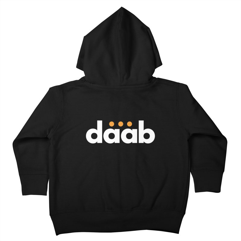 Daab Creative Branded Tee Kids Toddler Zip-Up Hoody by daab Creative's Artist Shop