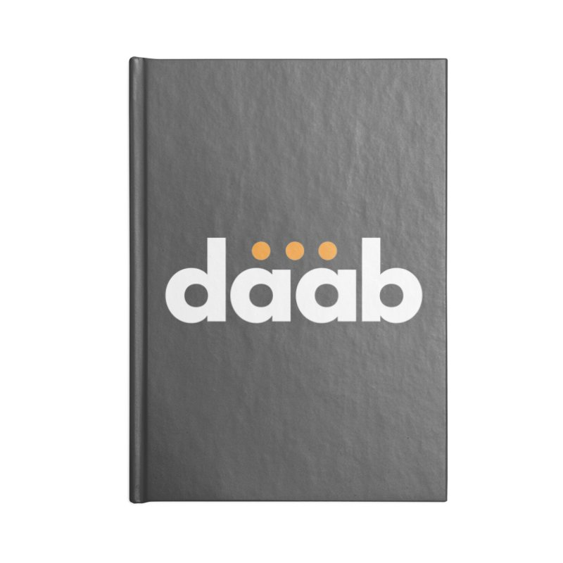 Daab Creative Branded Tee Accessories Blank Journal Notebook by daab Creative's Artist Shop