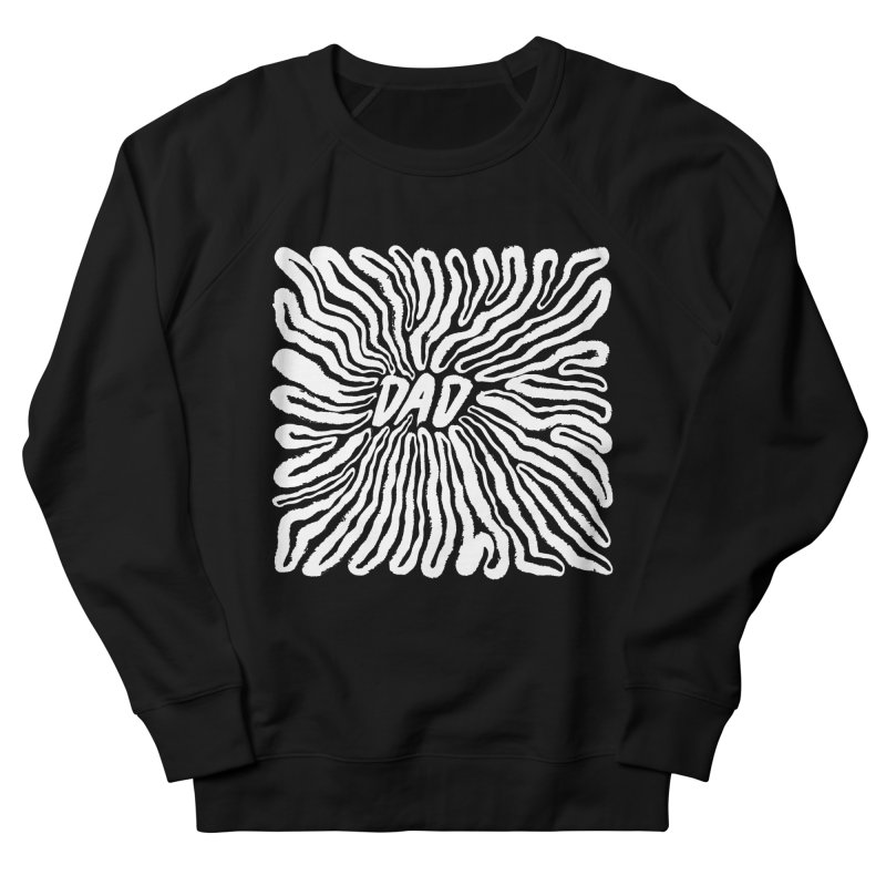 """Chasm"" White Logo Men's French Terry Sweatshirt by Dad"