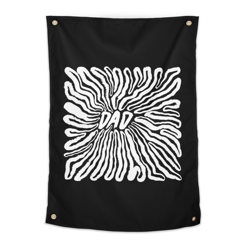 """Chasm"" White Logo Home Tapestry by Dad"