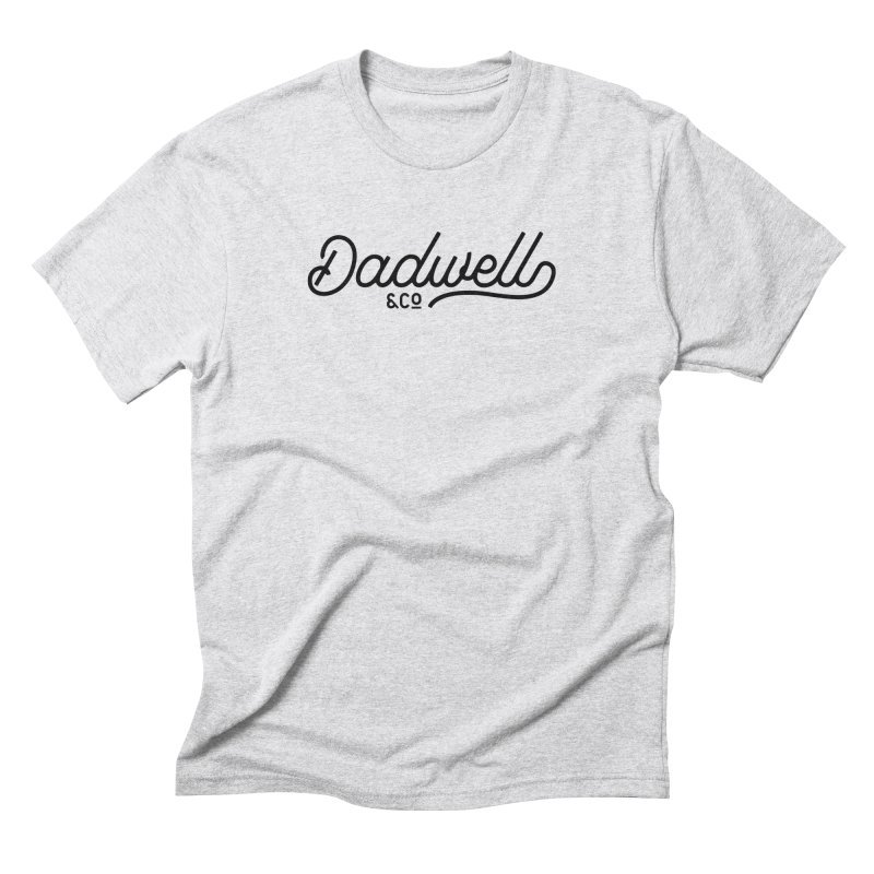 Dadwell & Co. Vintage Script in Men's Triblend T-Shirt Heather White by Dadwell & Co.
