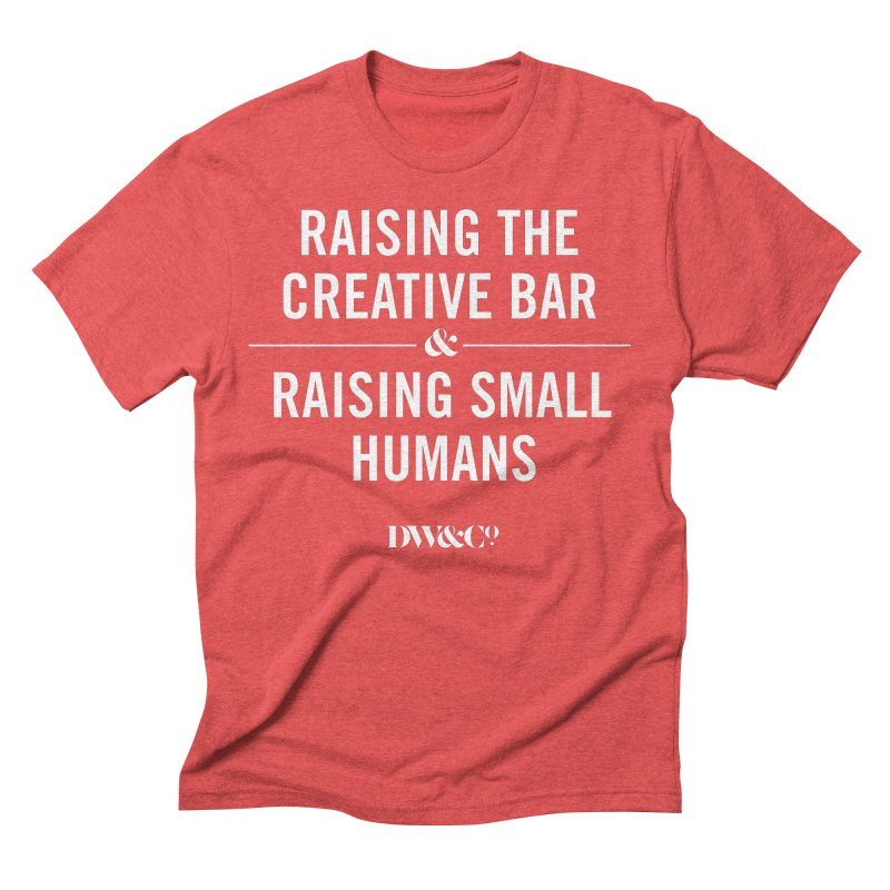 The Struggle in Men's Triblend T-Shirt Chili Red by Dadwell & Co.