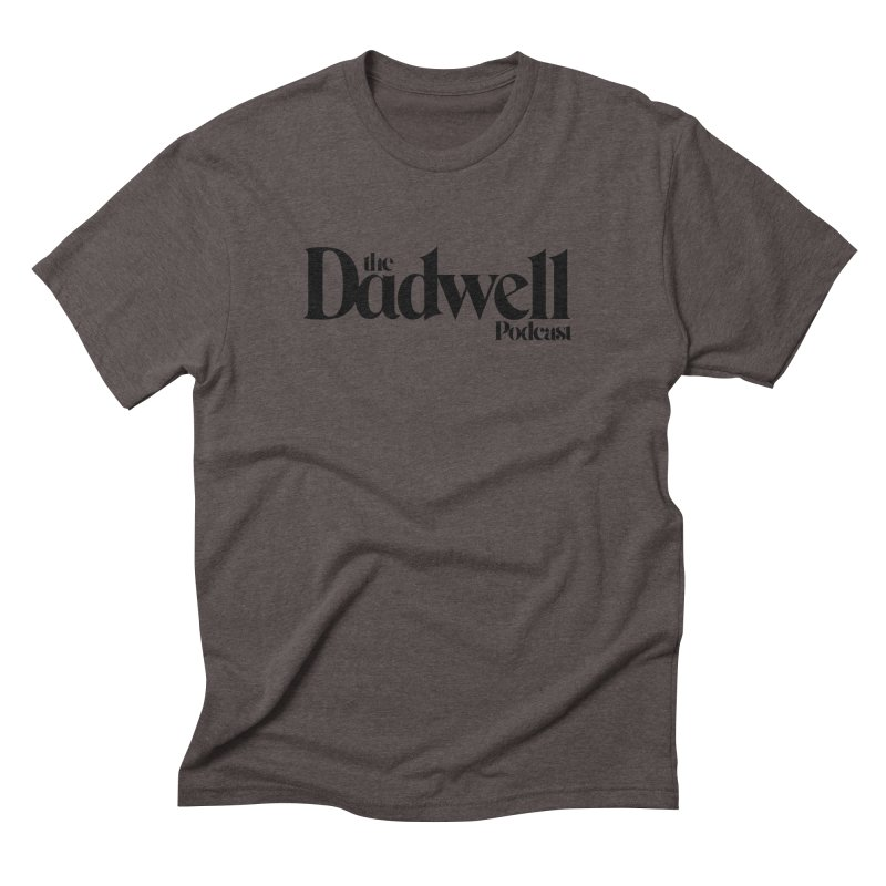 The Dadwell Podcast Logo in Men's Triblend T-Shirt Tri-Coffee by Dadwell & Co.